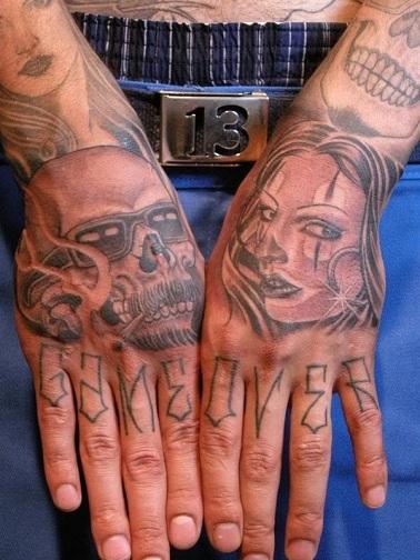 Bold Gangster Tattoo Design
