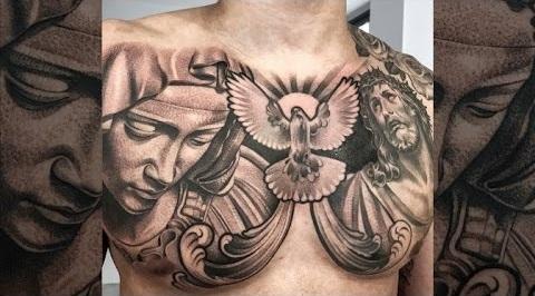 Dove and Mary Tattoos