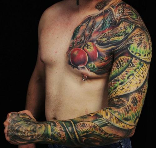 Incredible Reptile Tattoo Design