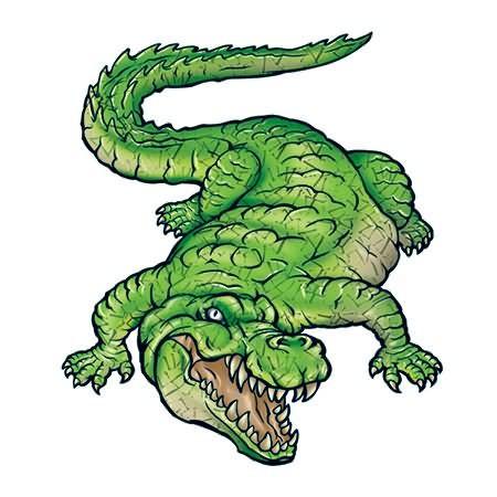 Scary Reptile Tattoo Design