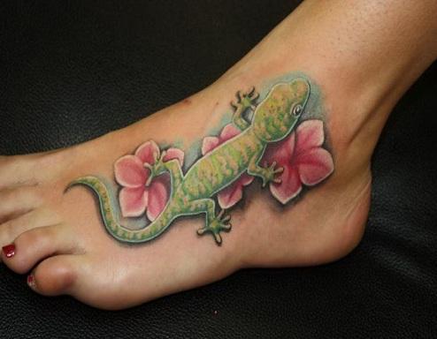 Attractive Reptile Tattoo Design