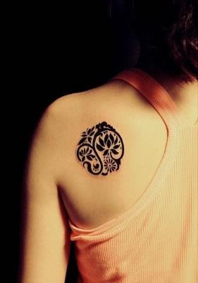 Feminine Round Tattoo