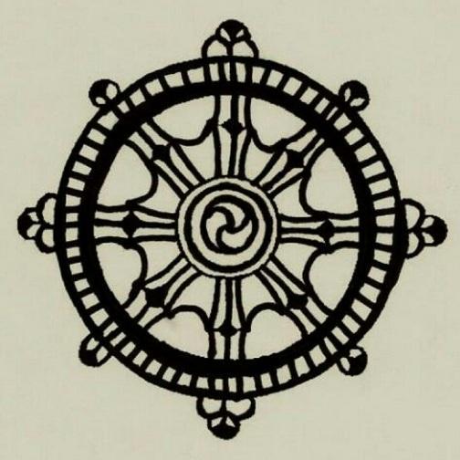 Dharma wheel Round Tattoo