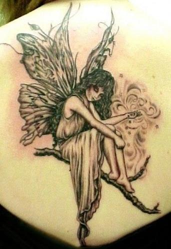 Sizzling Gothic Fairy Tattoo Design