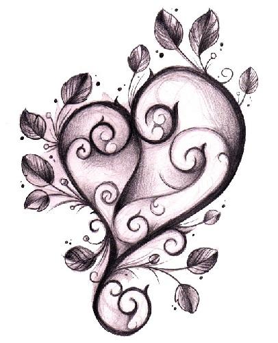 Impressive Gothic Heart Tattoo Design