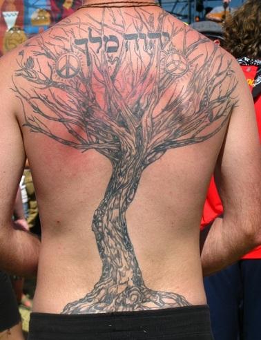Tree Structured Hebrew Tattoo