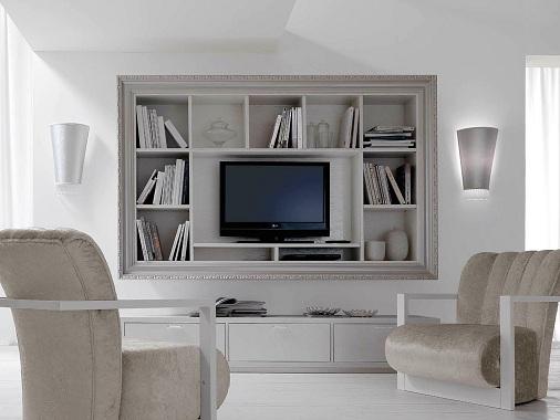 TV Unit with Book Shelf