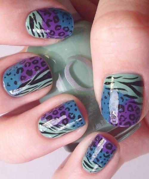 Leopard and zebra tri colour mix and match design