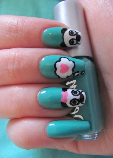 Easy panda bear animal print design