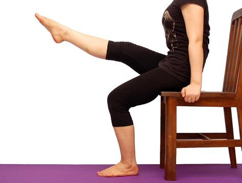 Leg Raise While Seated