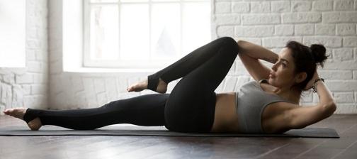 Oblique Crunch Exercise