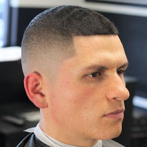 Edge up Buzz Fade Zero Cut Hairstyle