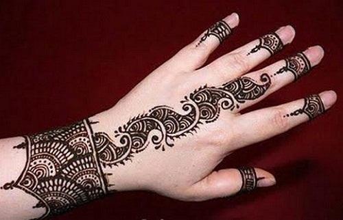 Arabic Style Mehndi for Diwali