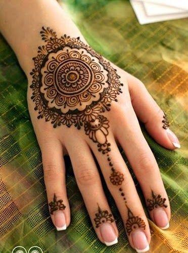 Simple Diwali Mehndi Patterns