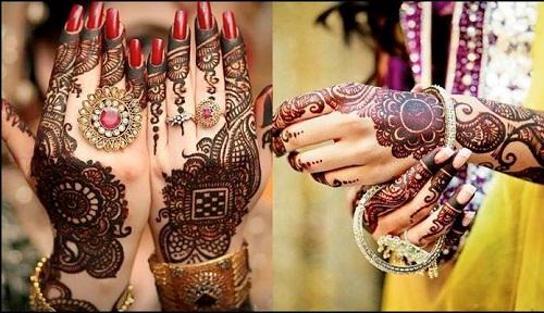 mehndi designs for karwa chauth