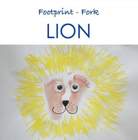 Footprint Fork Lion Craft
