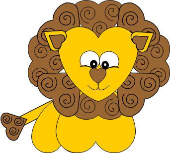 Heart Lion Paper Craft
