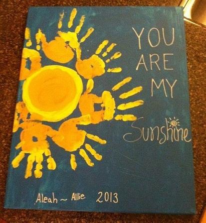 Hand Print Yellow Summer Craft