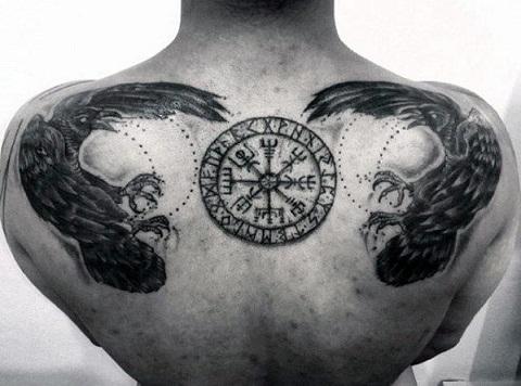 Viking Crow Tattoo Designs
