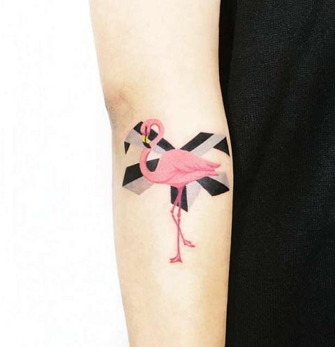 Flamingo Tattoos on forearm