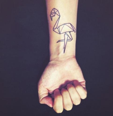 Flamingo Tattoos on arm