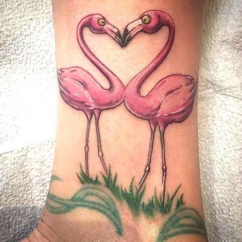9 Stylish & Stunning Flamingo Tattoo Designs