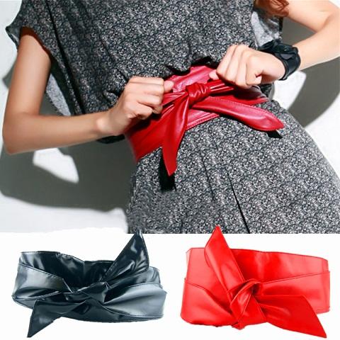women-red-waist-belt