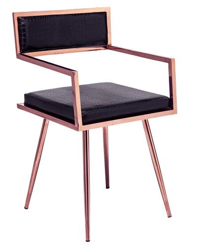 Simple Metal Frame Bedroom Chair