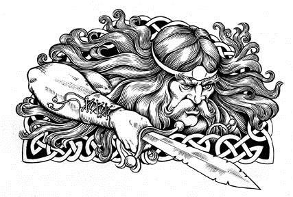 Celtic warrior tribal tattoo design