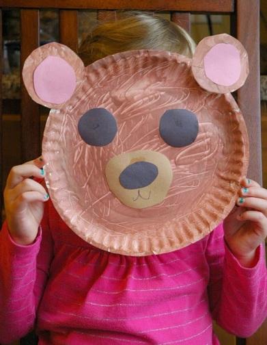 Paper Dish Bear Face