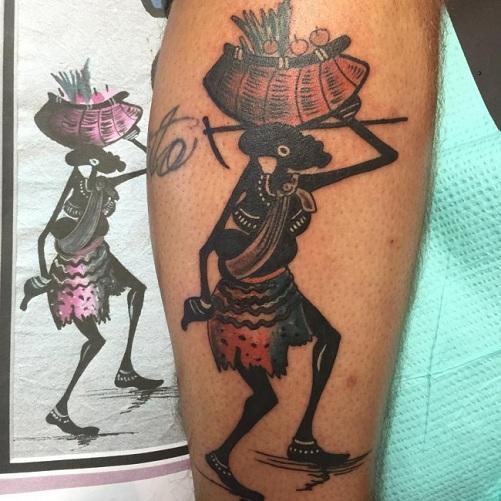 Unique African Tribal Tattoo Design