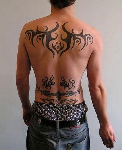 Lower Back Tribal Tattoo
