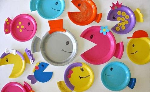 Paper Plates Fish Crafts