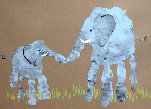 Elephant Hand Print