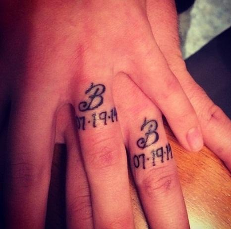 Impressive Wedding Ring Tattoo Designs