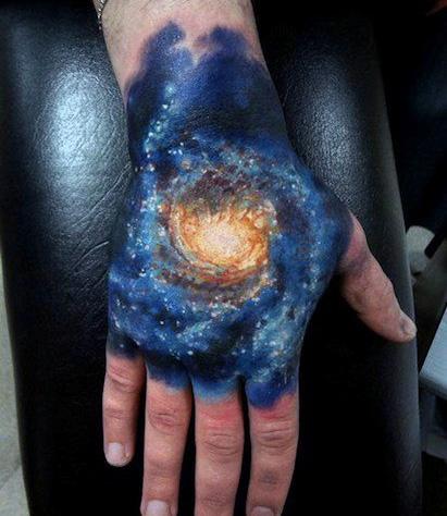 Hand Galaxy Tattoo