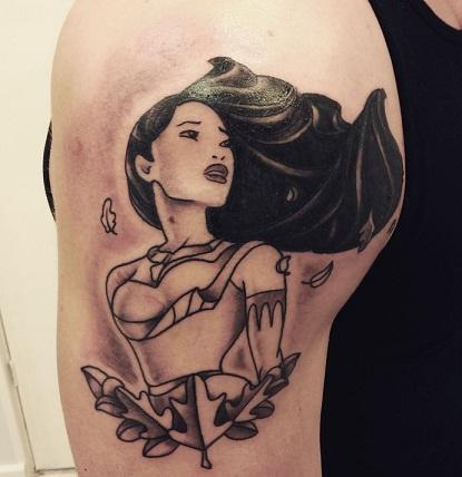 Pocahontas Disney Tattoo
