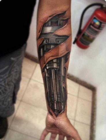 Cyborg Illusion Tattoo Designs