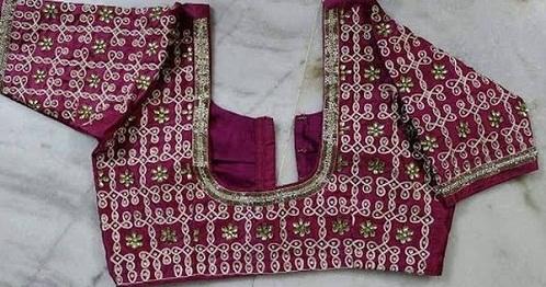 Muggu Designed blouse -24