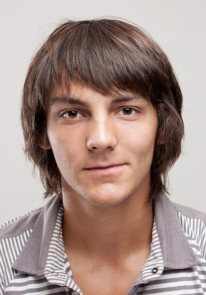 Short or Long Bangs Haircut for Men
