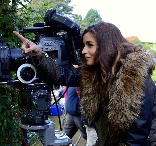 Alia Bhatt at shooting spot