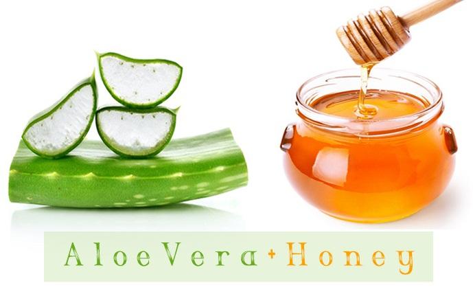 Honey and Aloe Vera for Acne