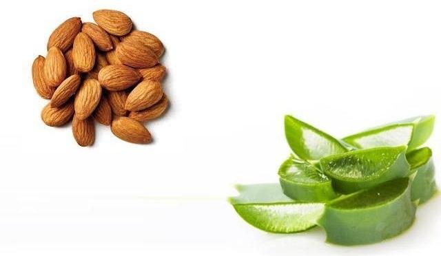 almonds and aloe vera for acne treatment