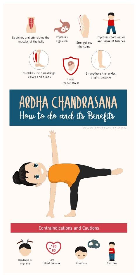 How to do Ardha Chandrasana (half moon pose) and its Benefits