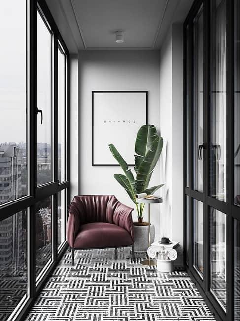 Small Balcony Ceiling Design