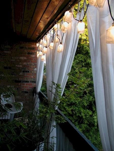 Rustic Balcony Ceiling