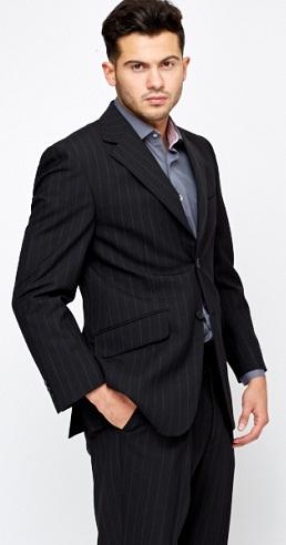 pinstripe black blazers