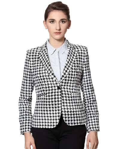 Black And White Blazer For Women