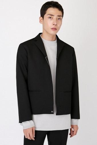 Black Cropped Blazer Men