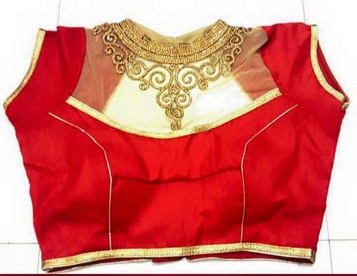 Blouse front neck designs10